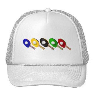 Palo de los tenis de mesa y deportes de la bola de gorras de camionero