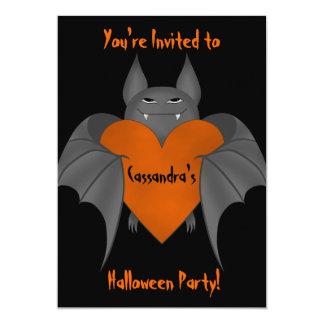 Palo de vampiro amoroso divertido de Halloween Invitación 12,7 X 17,8 Cm