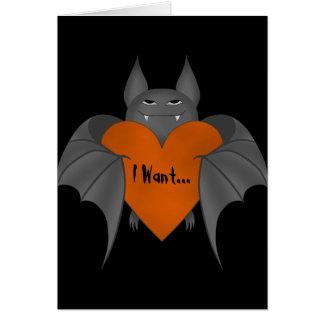 Palo de vampiro amoroso divertido de Halloween Tarjeta