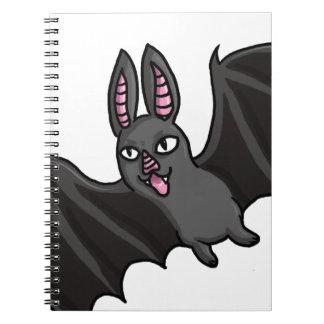 Palo de vampiro del dibujo animado libros de apuntes con espiral