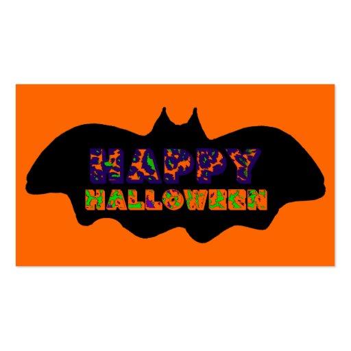 Palo del feliz Halloween Plantilla De Tarjeta De Visita