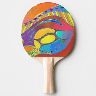 Palo del ping-pong en diseño orgánico intrépido pala de ping pong