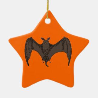 Palo del vuelo adorno navideño de cerámica en forma de estrella
