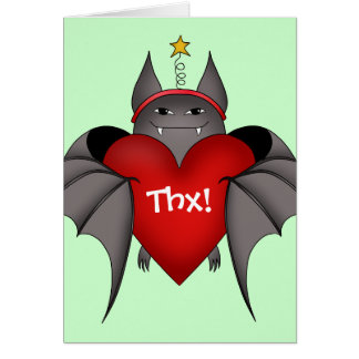 Palo gótico amoroso del navidad con el corazón tarjeta