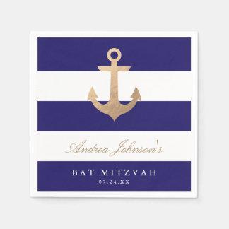 Palo náutico Mitzvah de la marina de guerra Servilletas De Papel