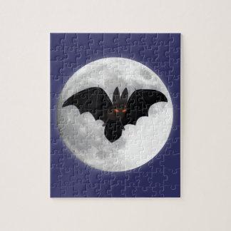 Palo Rojo-Observado delante de la luna Puzzle