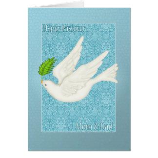 Paloma bonita de la mamá y del papá para el tarjeta de felicitación