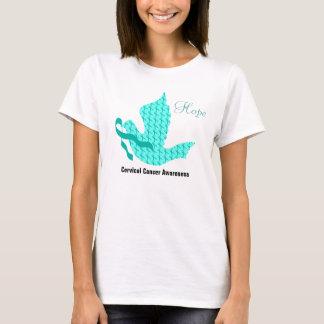 Paloma de la esperanza - cinta del trullo (cáncer camiseta