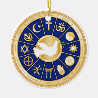Paloma de la mandala de la paz ornamento para reyes magos