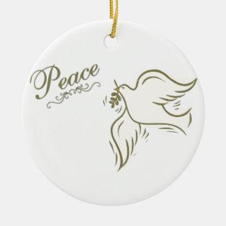 Paloma de la paz adorno
