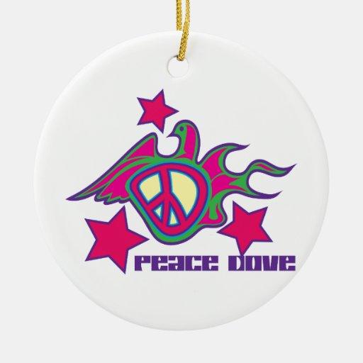 Paloma de la paz ornamentos de reyes