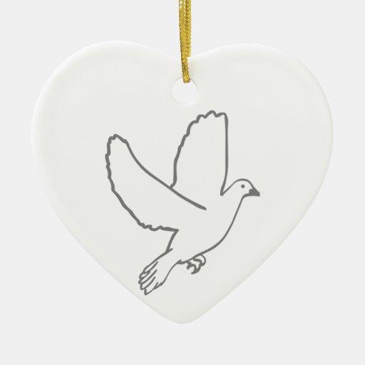 Paloma de la paz adorno de navidad