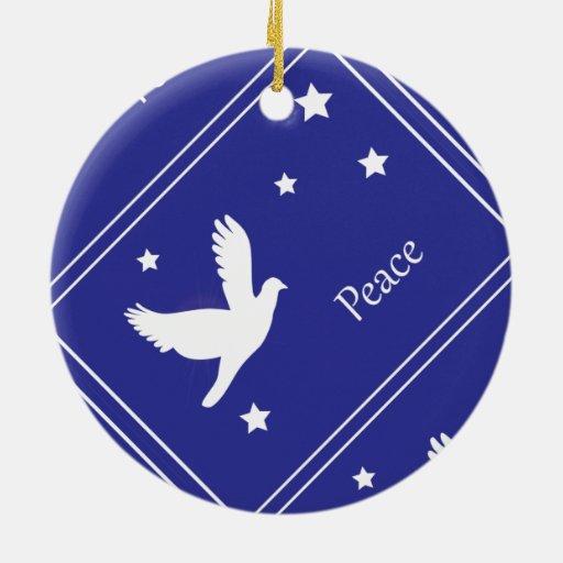 paloma de la paz ornamentos de navidad