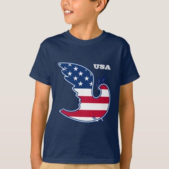 Paloma de la paz. Camisetas patrióticas del diseño