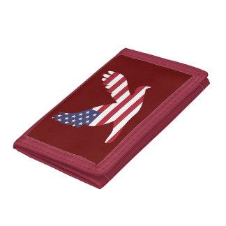 Paloma de la paz de la bandera de los E.E.U.U.