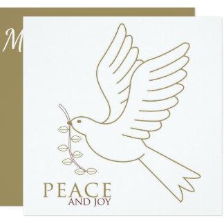 Paloma de la paz invitación 13,3 cm x 13,3cm
