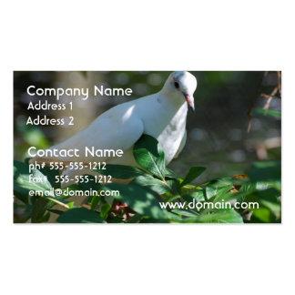 Paloma de luto dulce plantilla de tarjeta de visita