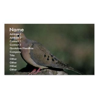 Paloma de luto tarjeta de visita