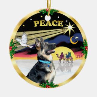 Paloma de Navidad (paz) - pastor alemán # Ornamentos De Reyes