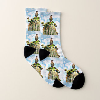 Paloma en calcetines unisex del Saguaro