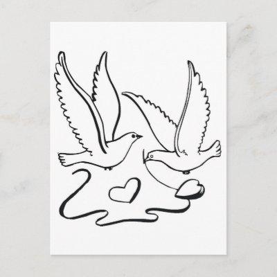 Palomas_de_la_ceremonia_de_boda_tarjeta_postal