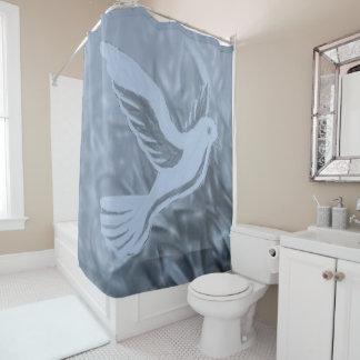 Palomas de la cortina de ducha