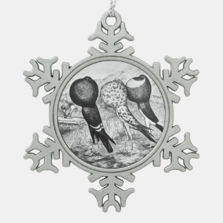 Palomas del Pouter de Brunner Adorno De Peltre Tipo Copo De Nieve