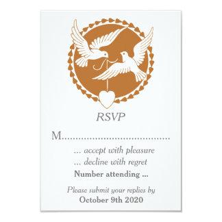 Palomas elegantes RSVP del amor para un boda gay Invitación 8,9 X 12,7 Cm