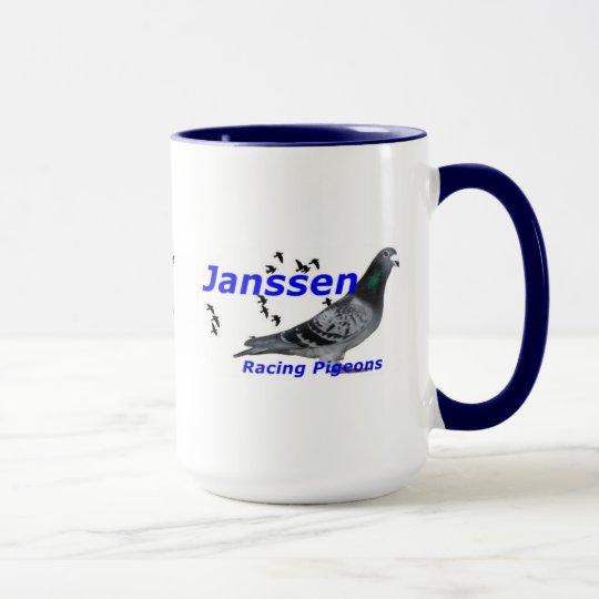 Palomas que compiten con de Janssen de la serie Taza
