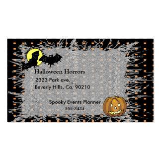 Palos de Halloween y sistema de la calabaza Plantilla De Tarjeta Personal