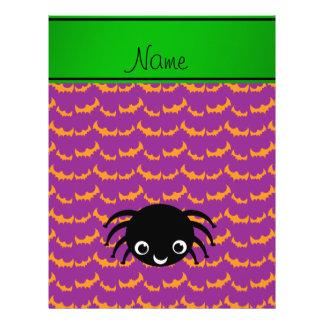 Palos púrpuras anaranjados personalizados de la flyer personalizado