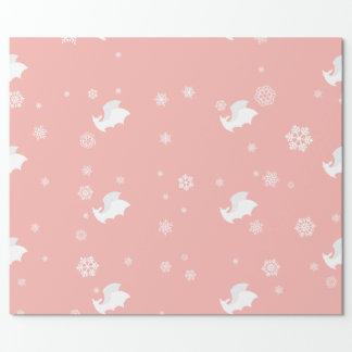 Palos y papel de embalaje de los copos de nieve