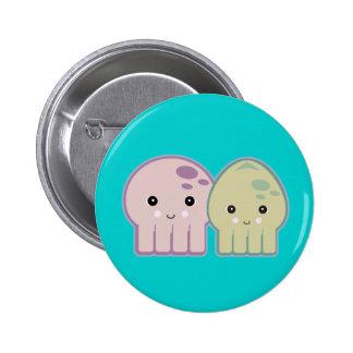 pals del pulpo y del calamar chapa redonda de 5 cm