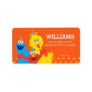 Pals del Sesame Street Etiqueta De Dirección