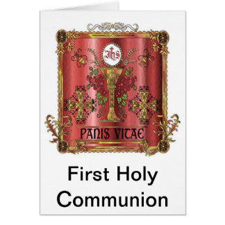 Pan de la primera tarjeta de la comunión de la vid