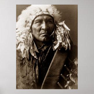 Pan, poster del indio del nativo americano de Apsa