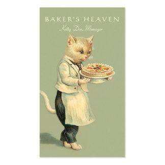 Panadería, chef de repostería, panadero, tarjetas de visita