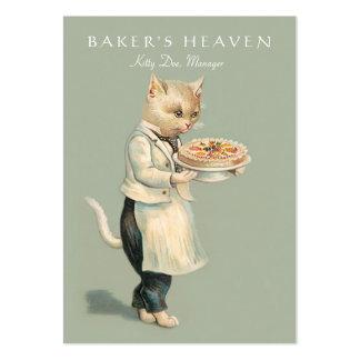 Panadería, chef de repostería, panadero, tarjetas de visita grandes