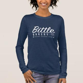 Panadería de Bittle - camiseta larga de la manga