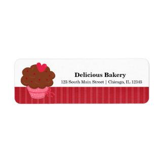 Panadería de la magdalena etiqueta de remite