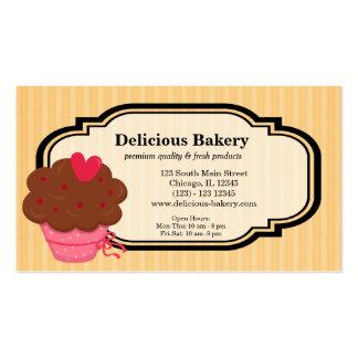 Panadería de la magdalena plantillas de tarjetas de visita