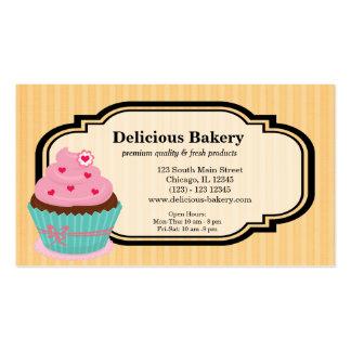 Panadería de la magdalena plantilla de tarjeta personal