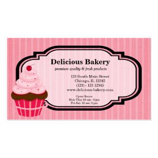 Panadería de la magdalena plantilla de tarjeta de visita