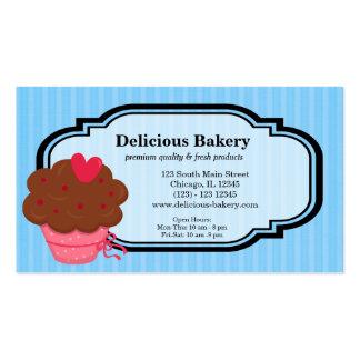 Panadería de la magdalena tarjeta de negocio