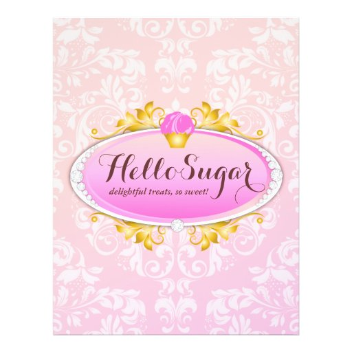 Panadería del azúcar del personalizable 311 hola flyer personalizado