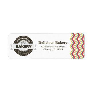 Panadería Etiquetas De Remite