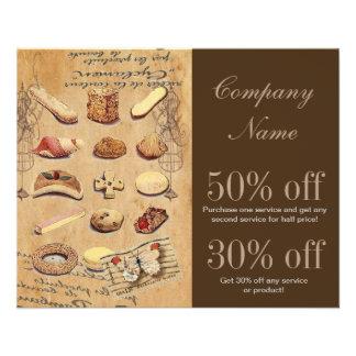 panadería francesa de las galletas de los pasteles tarjetas publicitarias