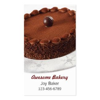 panadería impresionante plantilla de tarjeta de visita