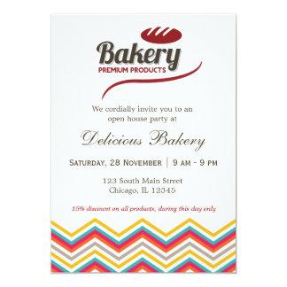 Panadería Invitación 12,7 X 17,8 Cm