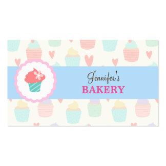 Panadería linda en colores pastel Businesscard de Tarjetas De Visita